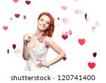 young cheerful caucasian red... | Shutterstock . vector #120741400