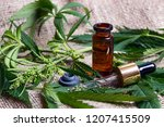 medicinal cannabis with extract ... | Shutterstock . vector #1207415509