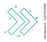 arrows icon design vector | Shutterstock .eps vector #1207424083