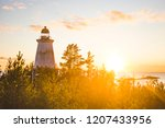 lighthouse at cape besov nos ... | Shutterstock . vector #1207433956