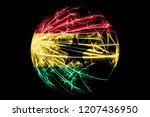 abstract ghana sparkling flag ... | Shutterstock . vector #1207436950