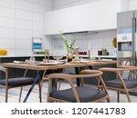 3d rendering modern clean home...   Shutterstock . vector #1207441783