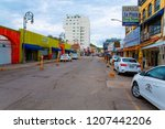 colorful downtown in nogales ... | Shutterstock . vector #1207442206