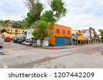 colorful downtown in nogales ... | Shutterstock . vector #1207442209