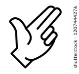 a hand gesture with two fingers ... | Shutterstock .eps vector #1207444276