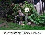 halloween scene in the dark  a... | Shutterstock . vector #1207444369