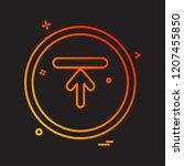 arrows icon design vector | Shutterstock .eps vector #1207455850