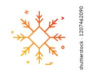 snow flakes icon design vector | Shutterstock .eps vector #1207462090