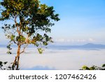morning mist sunrise at khao... | Shutterstock . vector #1207462426