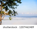 morning mist sunrise at khao... | Shutterstock . vector #1207462489