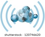 global wifi wireless network... | Shutterstock .eps vector #120746620