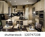 kitchen interior architecture... | Shutterstock . vector #120747238