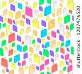 raster colorful isometric... | Shutterstock . vector #1207476520