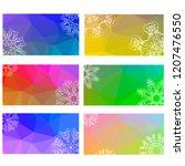 raster rumpled triangular... | Shutterstock . vector #1207476550