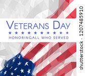 veterans day banner with usa... | Shutterstock .eps vector #1207485910