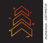 up arrow icon design vector | Shutterstock .eps vector #1207490719