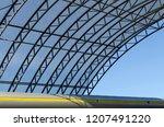 part of modern building. urban... | Shutterstock . vector #1207491220