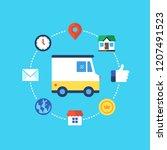 delivery service. flat design...   Shutterstock .eps vector #1207491523