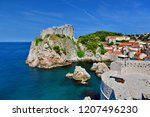 view to fort lovrijenac from...   Shutterstock . vector #1207496230