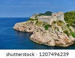 fort lovrijenac  dubrovnik ...   Shutterstock . vector #1207496239