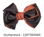 black brown hair bow tie | Shutterstock . vector #1207504360