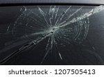 terrible dangerous car after a... | Shutterstock . vector #1207505413