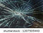 terrible dangerous car after a... | Shutterstock . vector #1207505443
