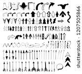 hand drawn vector arrows set.... | Shutterstock .eps vector #1207505866