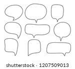 vector bubbles speech set. hand ... | Shutterstock .eps vector #1207509013
