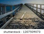 broken and ailing wooden...   Shutterstock . vector #1207509073