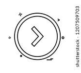 right arrow icon design vector | Shutterstock .eps vector #1207509703