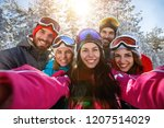 group of young people taking... | Shutterstock . vector #1207514029