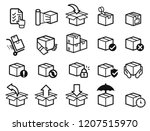 parcel care standard step icon... | Shutterstock .eps vector #1207515970