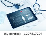 live medical screening with... | Shutterstock . vector #1207517209