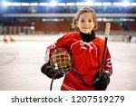 Youth Girl Hockey Players In...