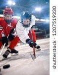 ice hockey sport young... | Shutterstock . vector #1207519330