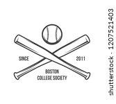 vector illustration of baseball ... | Shutterstock .eps vector #1207521403