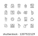 simple set of coffee related... | Shutterstock .eps vector #1207522129