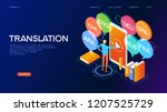 concept of translating and... | Shutterstock .eps vector #1207525729