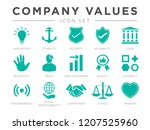 business company values icon... | Shutterstock .eps vector #1207525960