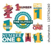 number one emblems set with... | Shutterstock .eps vector #1207526260