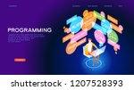 programmer workflow. the... | Shutterstock .eps vector #1207528393