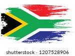 brush south africa flag | Shutterstock .eps vector #1207528906