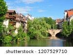 karlsbruecke in nuremberg | Shutterstock . vector #1207529710