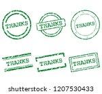 thanks stamps on white | Shutterstock .eps vector #1207530433