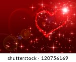 red valentines day background | Shutterstock . vector #120756169