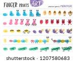 finger prints art. the task... | Shutterstock .eps vector #1207580683