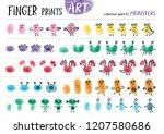 finger prints art. the task... | Shutterstock .eps vector #1207580686