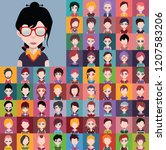 set of people icons  avatars in ...   Shutterstock .eps vector #1207583206