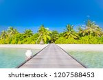 beautiful tropical maldives... | Shutterstock . vector #1207588453